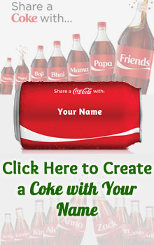 Create a Coca Cola with Your Name & Share it with Friends - FB Fun App