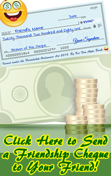 Send Your Friends a Cool Friendship Cheque just for fun - FB Fun App